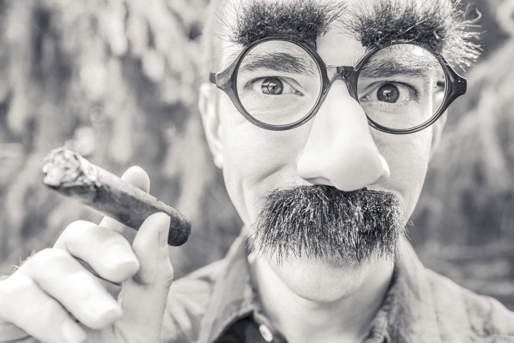 Groucho mask - authenticity creates popularity and confidence